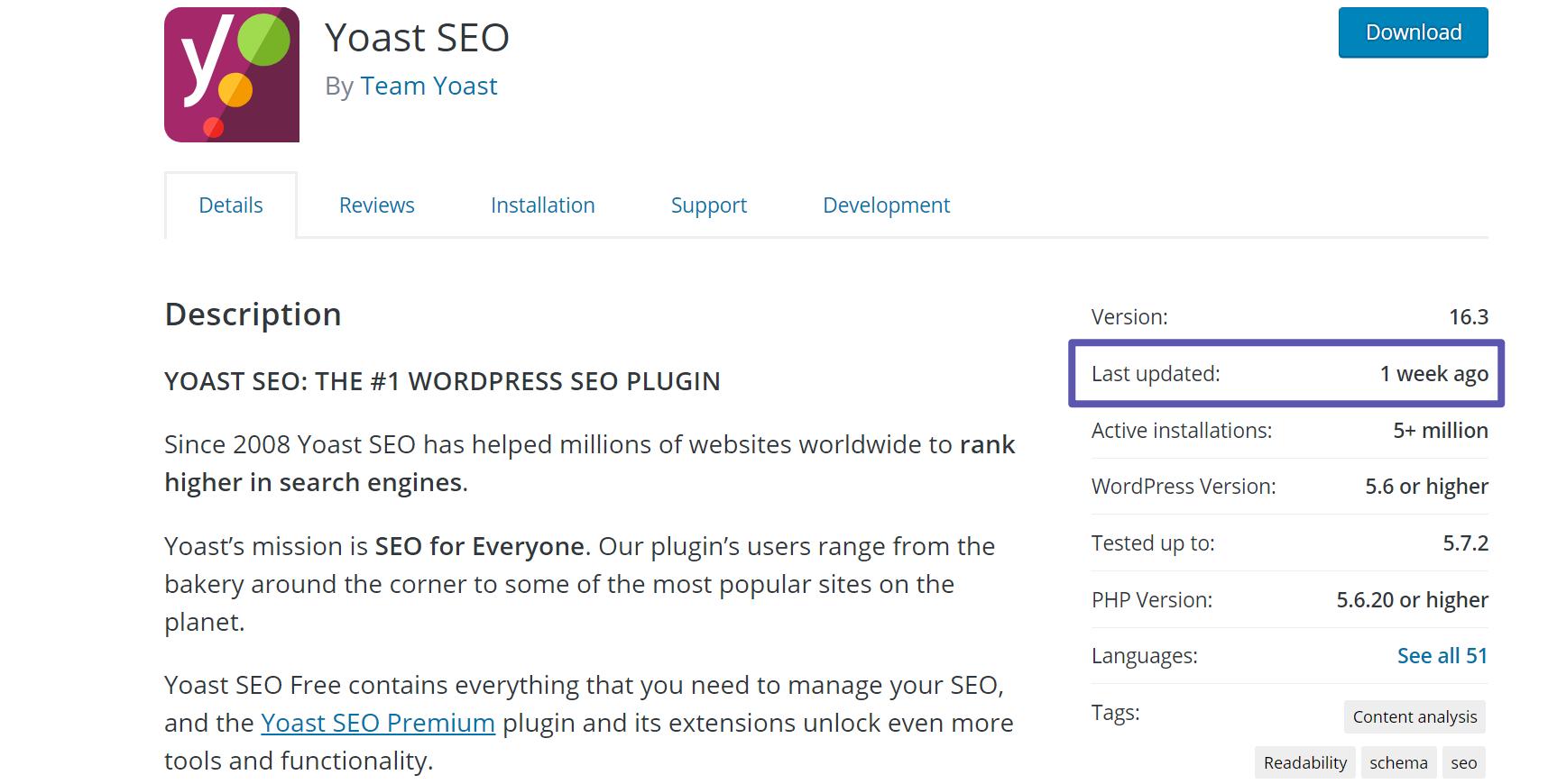 Update details for a WordPress plugin