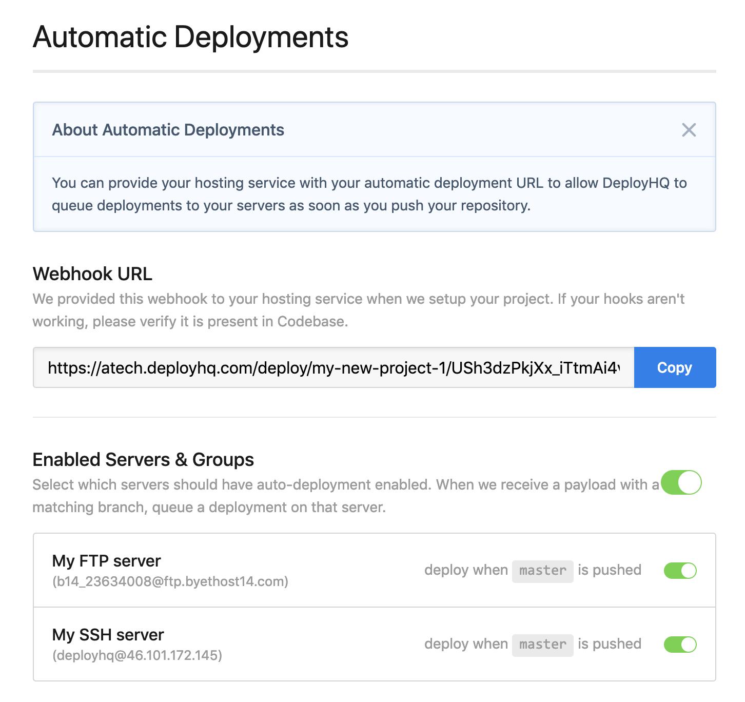 Auto deployment