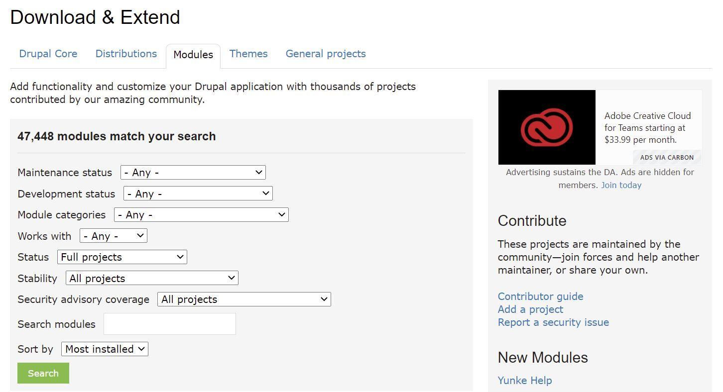 Drupal modules repository