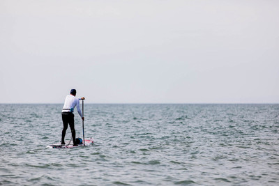 Sponsored round-Britain paddleboard attempt ends in success!